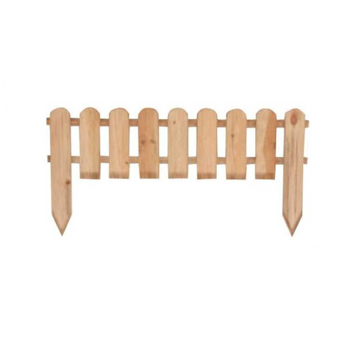 Steccato in legno di pino impregnato ideale per delimitazioni outdoor