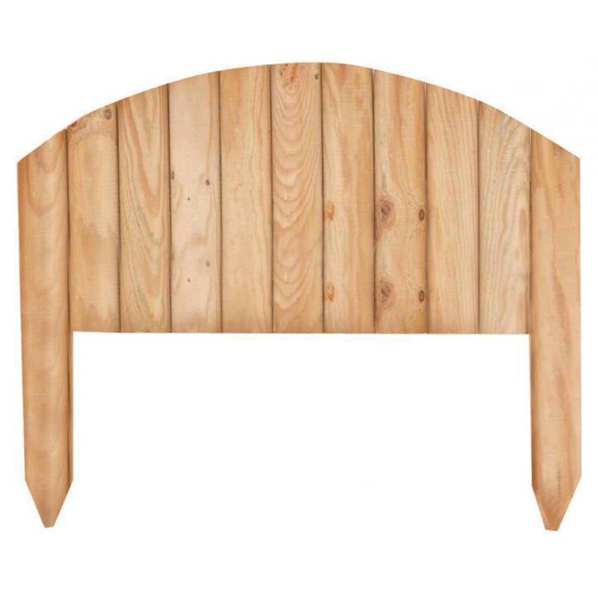 Steccato ad arco in legno di pino impregnato mdello Vampiro 54x47h