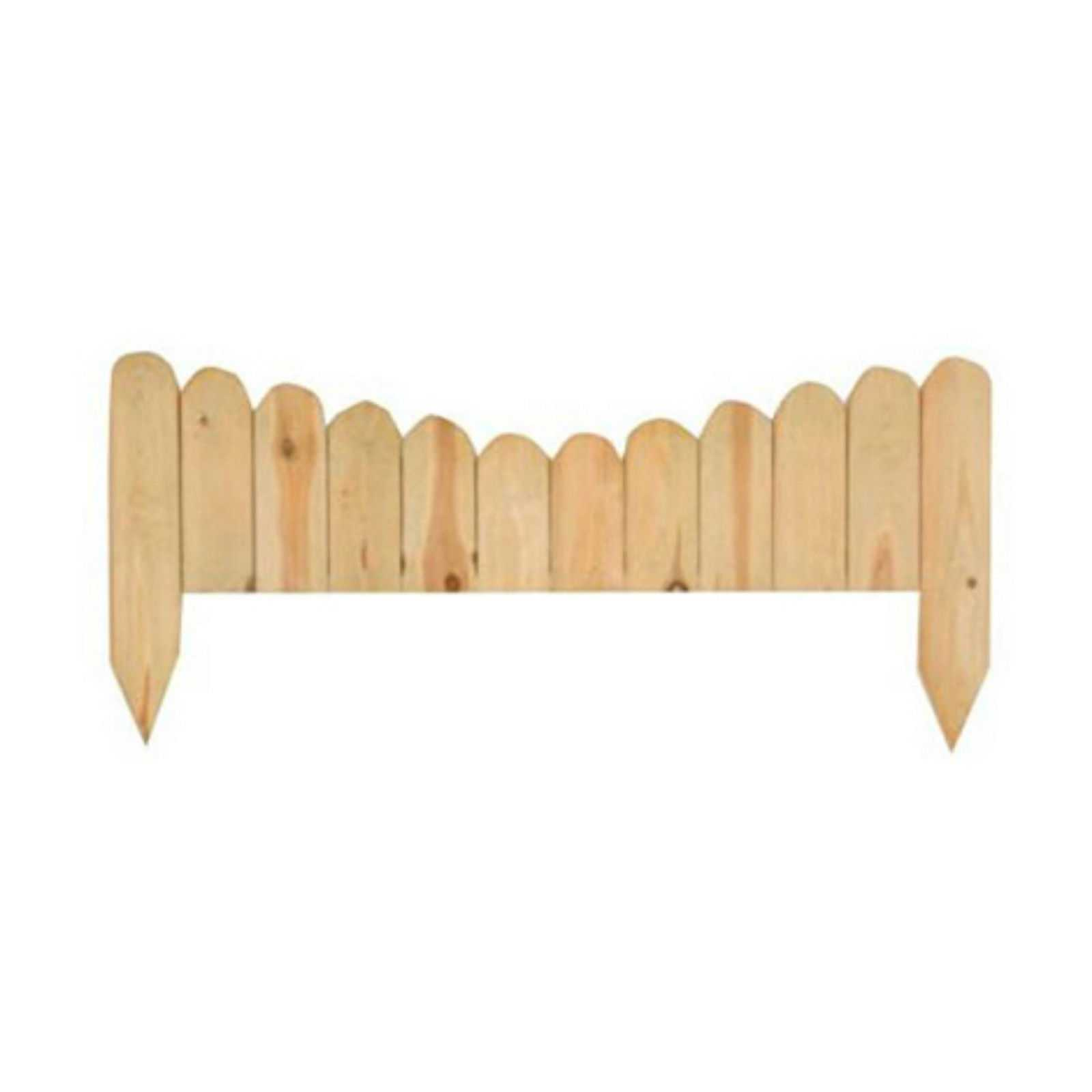 Steccato in legno di pino impregnato adatto per delimitare aree outdoor