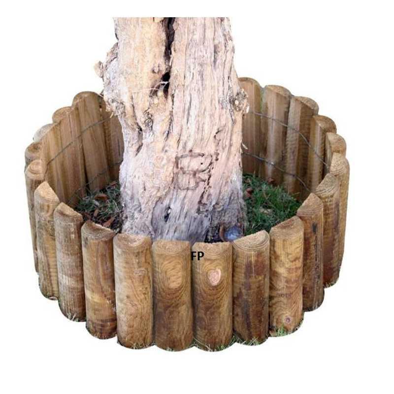 Roolborder in pino impregnato lunghezza 200 cm per delimitare aiuole tonde o curvilinee