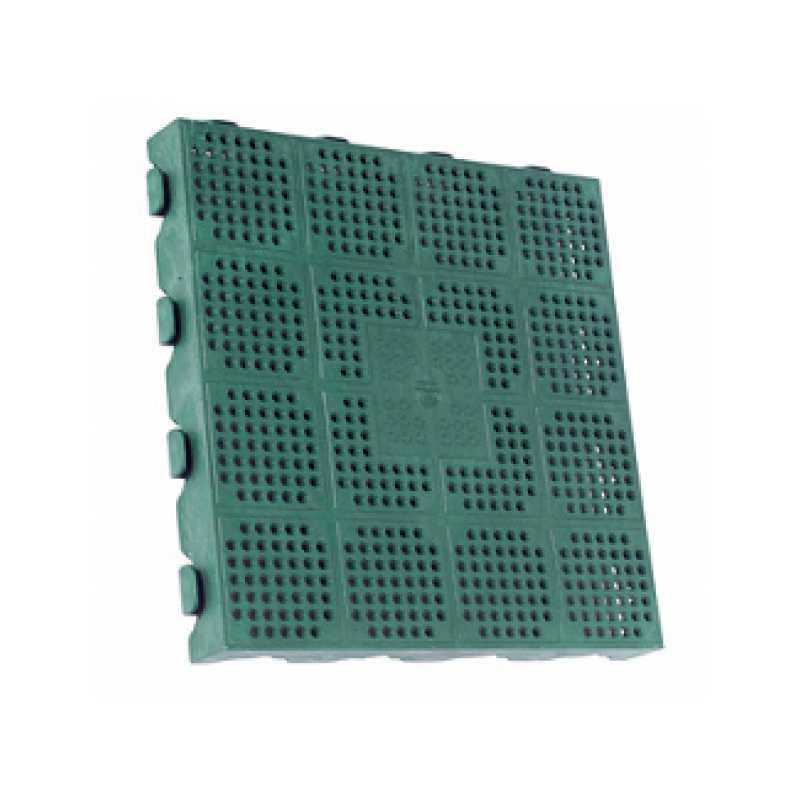 Pavimento in polipropilene verde con piastrella cm 39x39x4,5