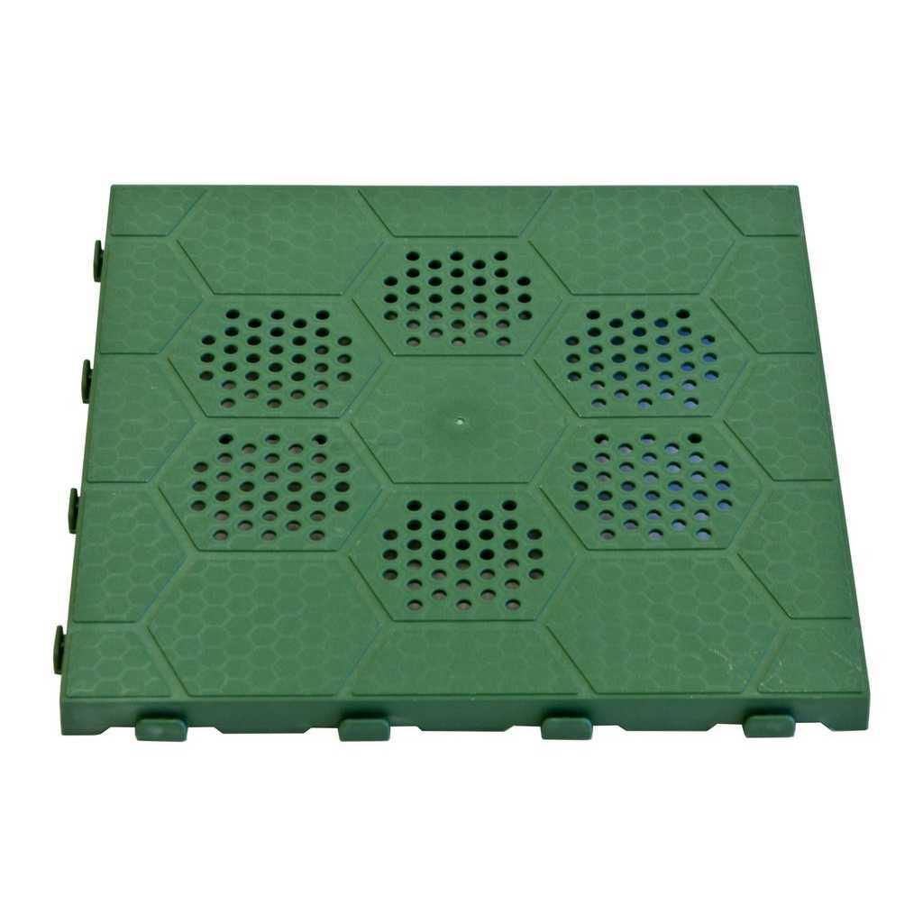 Pavimento in polipropilene E40 VERDE  incastro cm 40x40 compreso