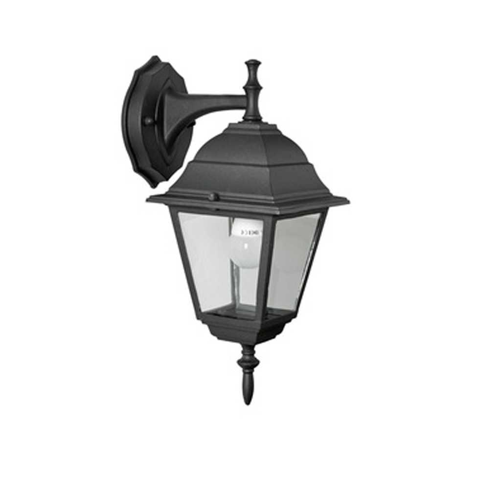 Lanterna colore nero opaco Baby cm 15x15x35h corpo in alluminio verniciato