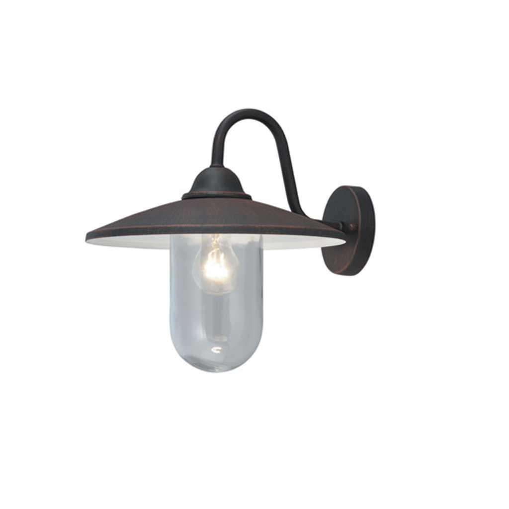 Lanterna Portofino alluminio nero cm 36x35h globo in metacrilato