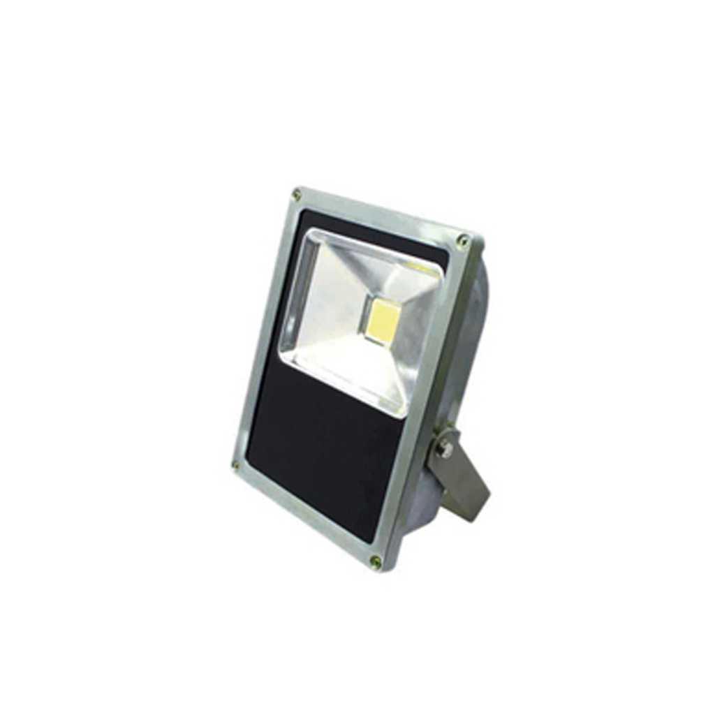 Proiettore led cm 130x60x170h potenza 15 W corpo in metallo pressofuso grigio