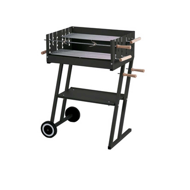 Barbecue STEAK HOUSE con struttura in acciaio verniciato e due griglie cromate