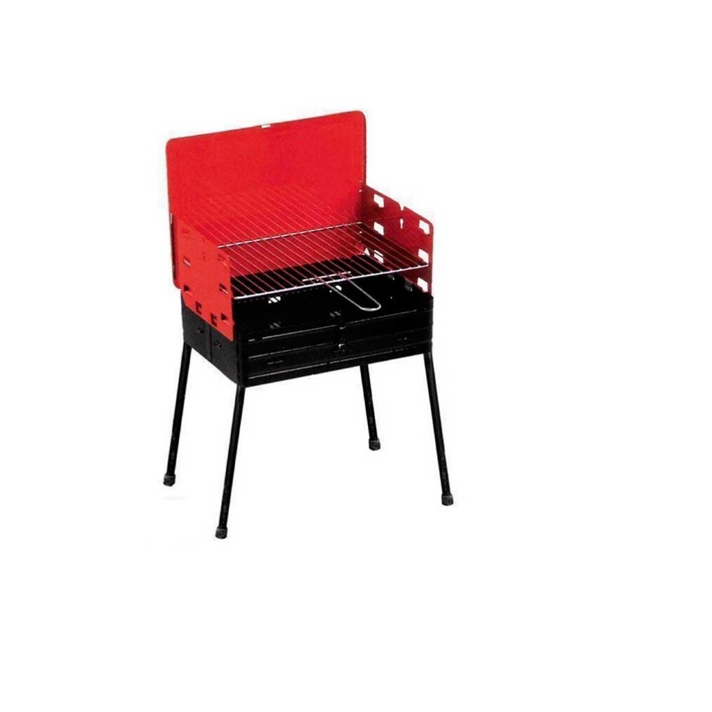 Barbecue 884 con struttura in acciaio verniciato e gambe pieghevoli