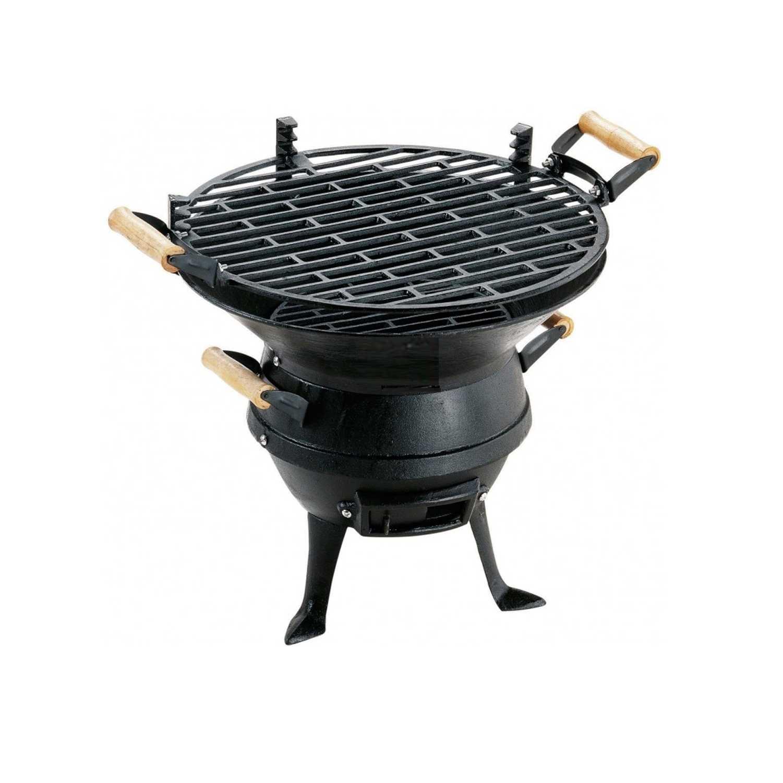 Comodo barbecue modello LAMPO con struttura in ghisa