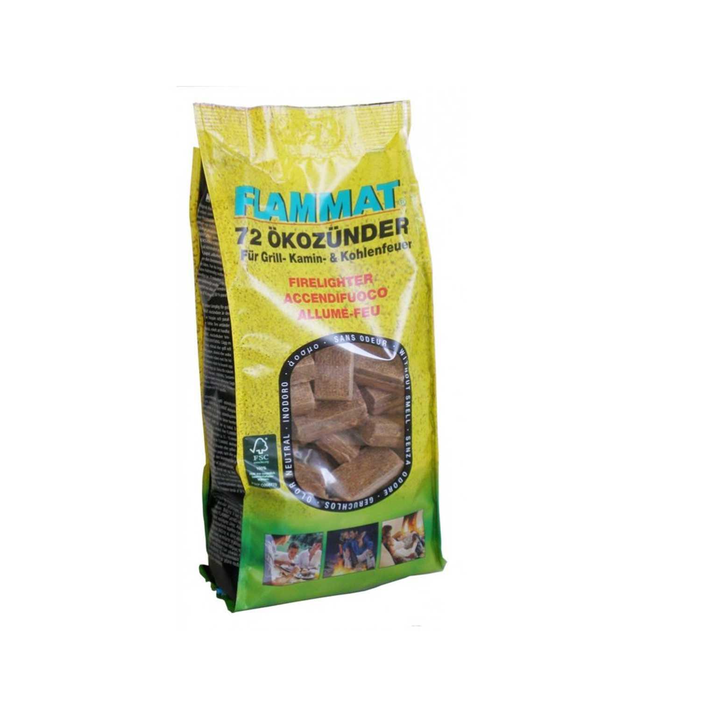 Accendifuoco ecologico confezione risparmio da 72 cubetti