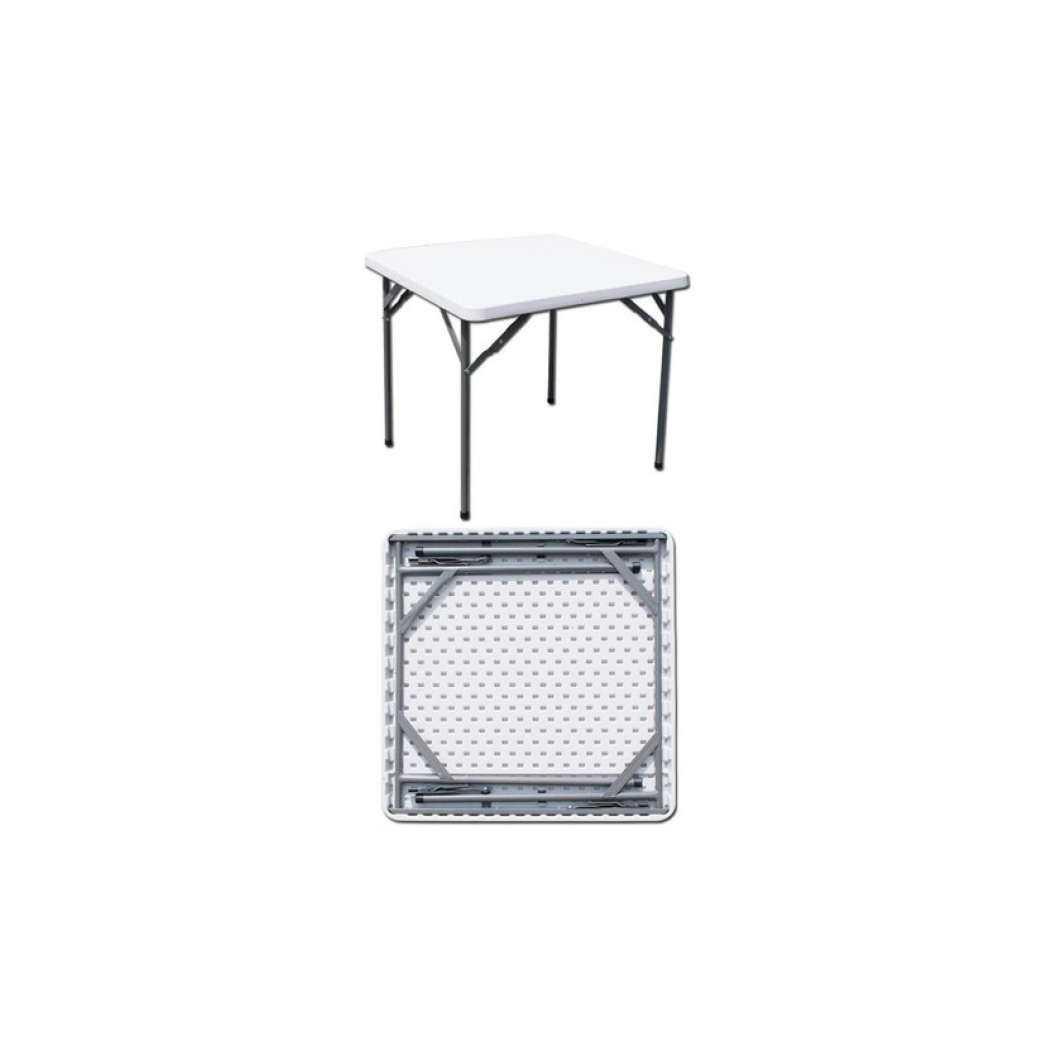 Tavolo in HDPE pieghevole con struttura in acciaio verniciato peso 10 kg