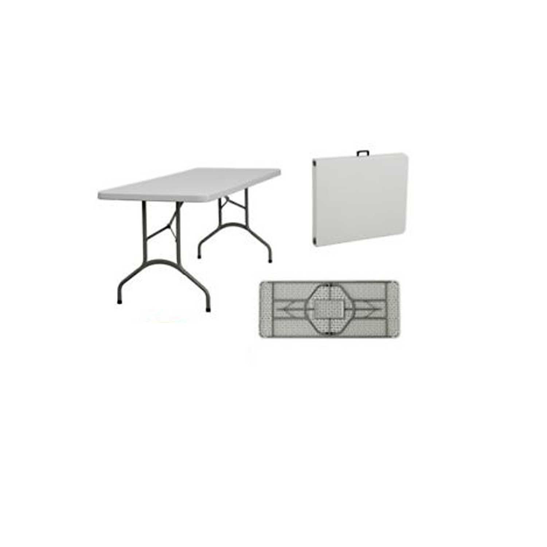 Tavolo in HDPE pieghevole, con struttura in acciaio verniciato. Peso 12 kg