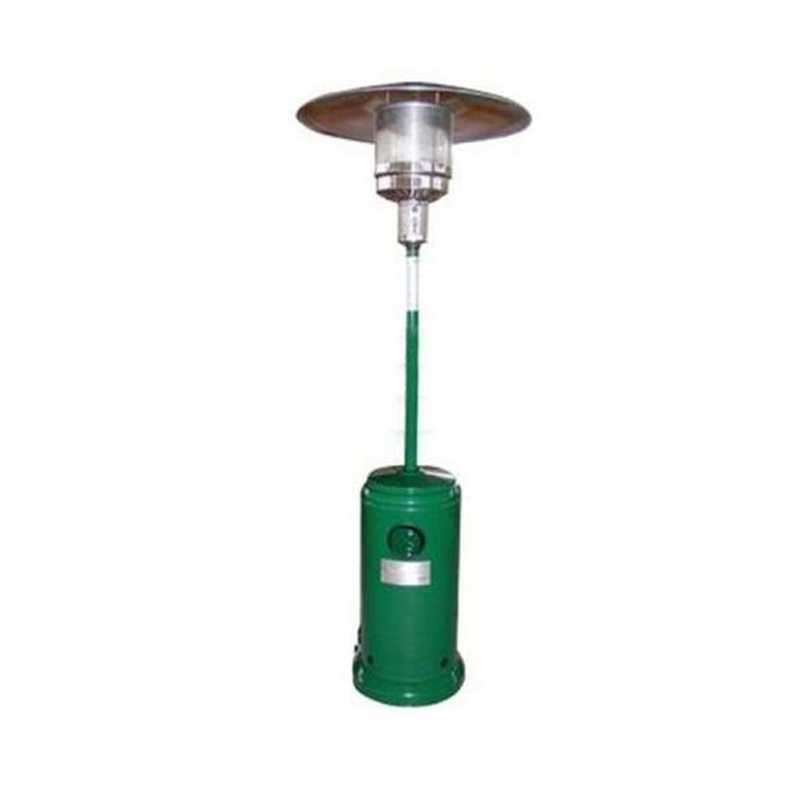 Stufa aerea Patio verde altezza 220 cm con riscaldatori a raggi infrarossi