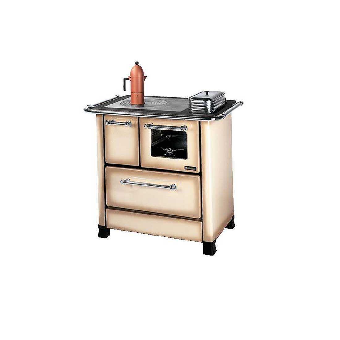 Cucina a legna cappuccino modello Romantica 4,5 di Nordica potenza termica 6,0 Kw