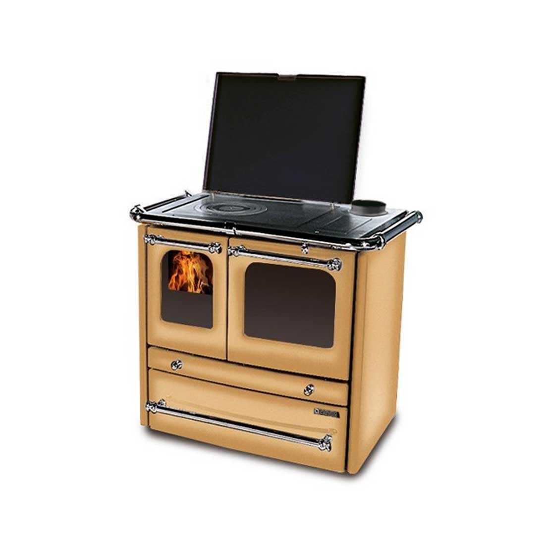 Cucina a legna cappuccino modello Sovrana Evo di Nordica potenza termica 9,0 Kw