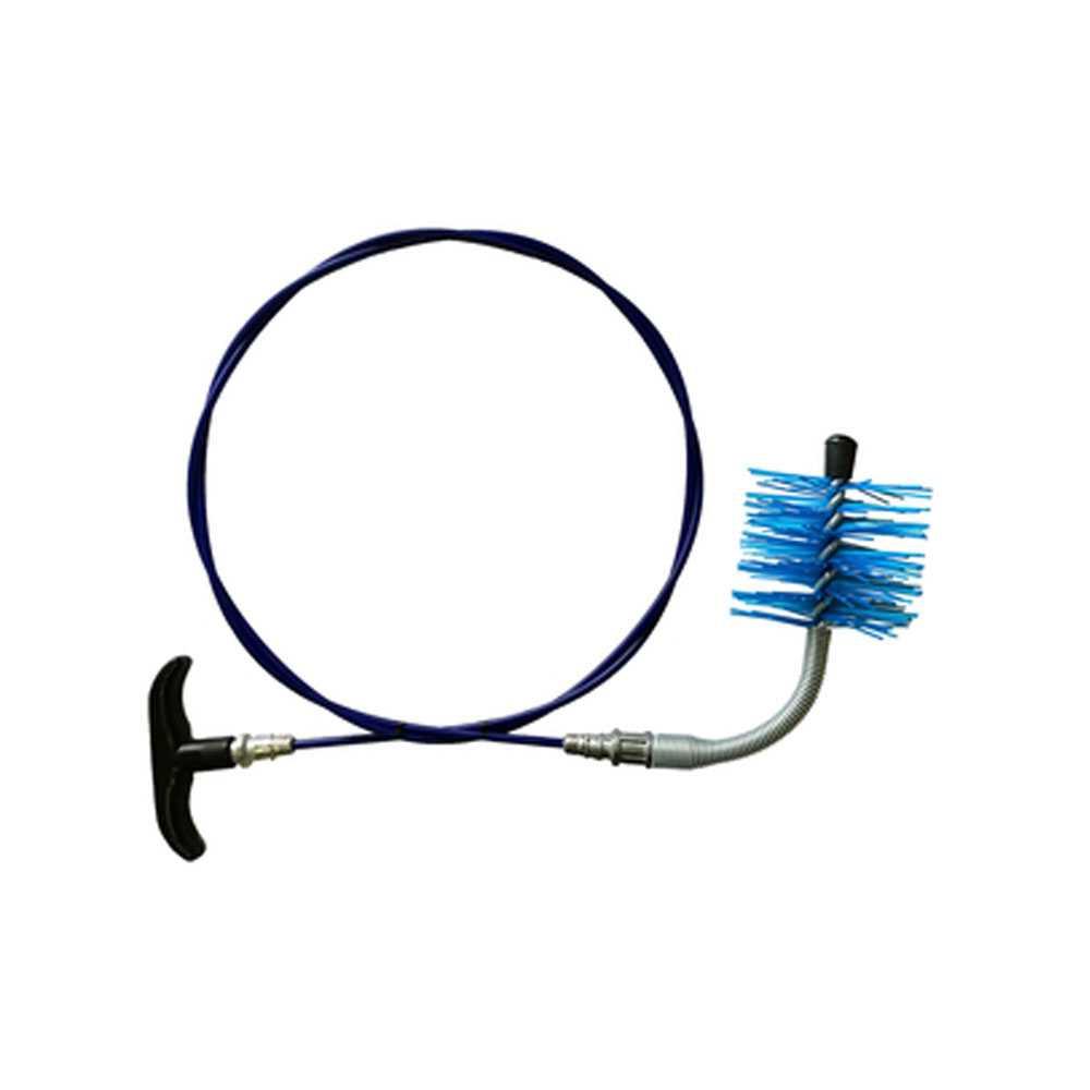 Kit di pulizia per tubi di stufe a pellet dotato di impugnatura