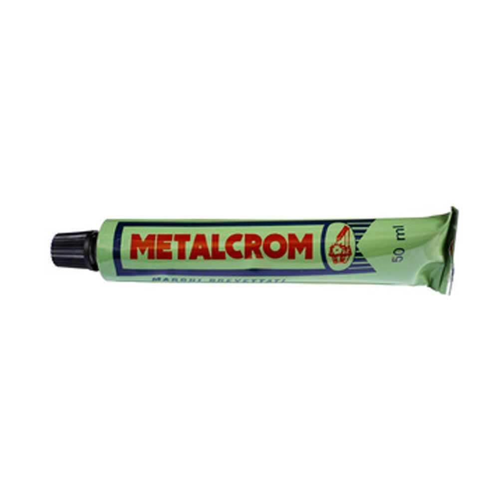 Metalcrom tubetto da 50 ml ideale per ridare brillantezza a superfici in acciaio