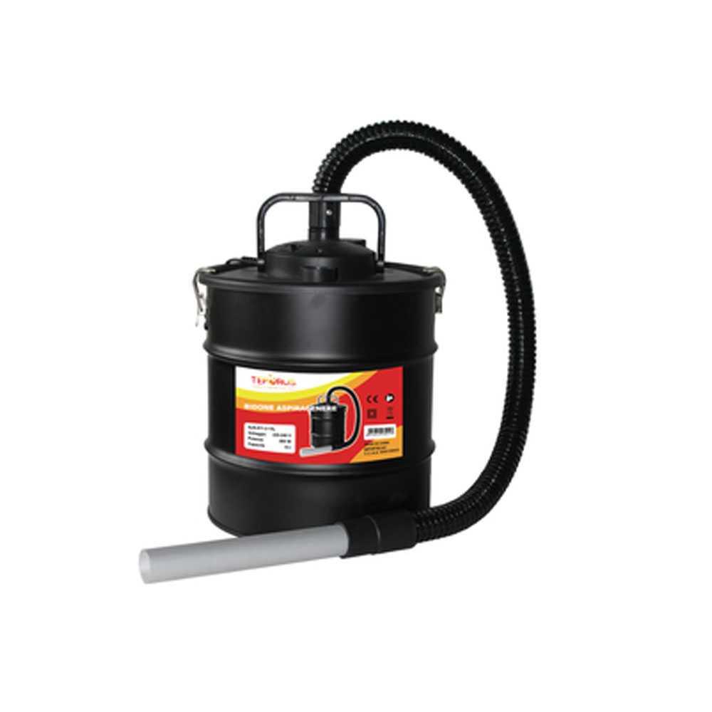 Bidone aspiracenere Teporus Fuocovivo fusto da 15 litri otenza 800 W