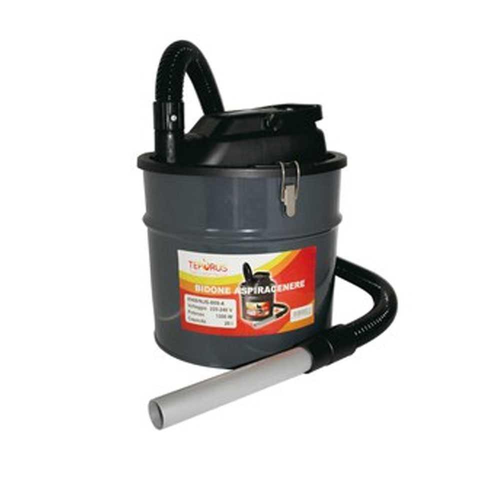 Bidone aspiracenere Teporus Fuococvivo fusto da 20 litri potenza 1200 W