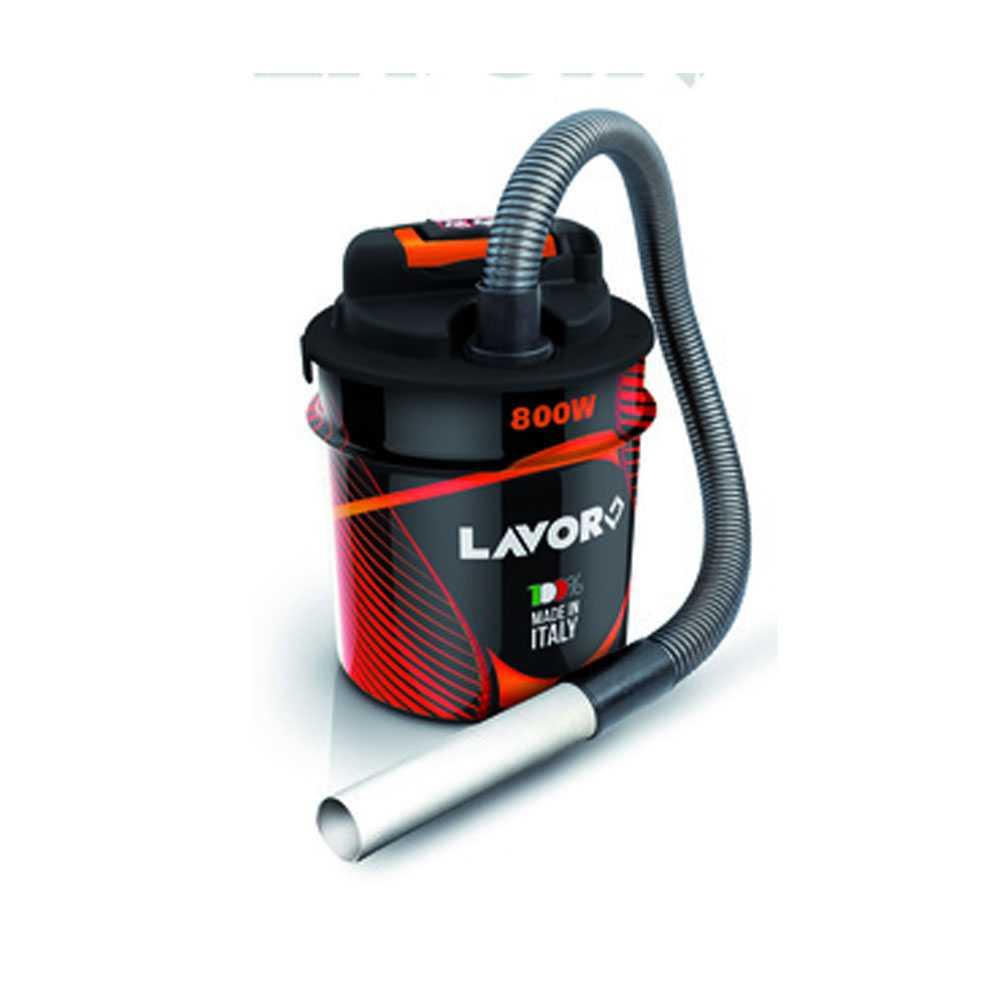 Bidone aspiracenere fusto da 14 litri Ashley1.2 firmato Lavor potenza 800 W