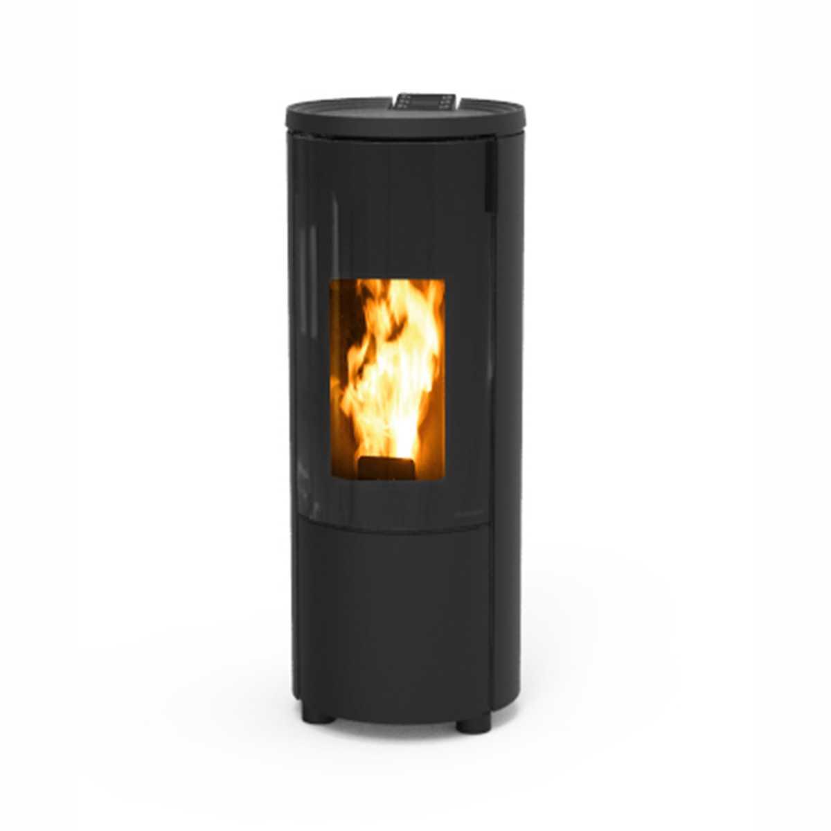 PROMO - Stufa a pellet Thermorossi Pop 9,0 kW rivestimento in metallo grigio