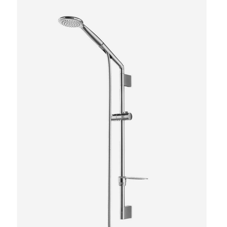 Saliscendi Bari con doccia anticalcare monogetto, flessibile e portasapone