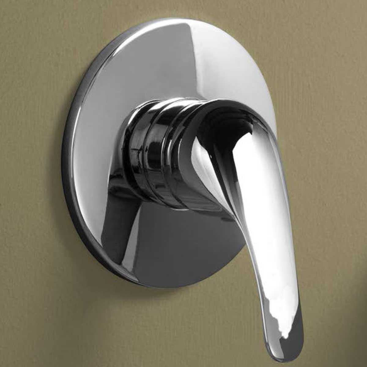Miscelatore monocomando incasso doccia serie Eco ottone cromato