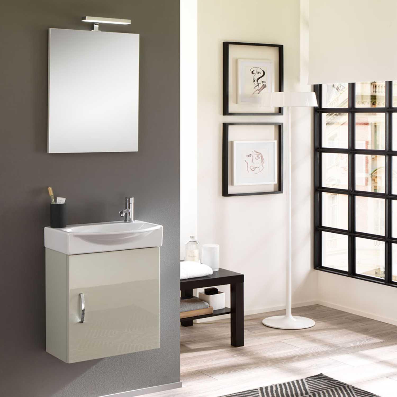 Mobile bagno sospeso Mini42 cm 42x190x29,5 laccato lucido grigio nuvola