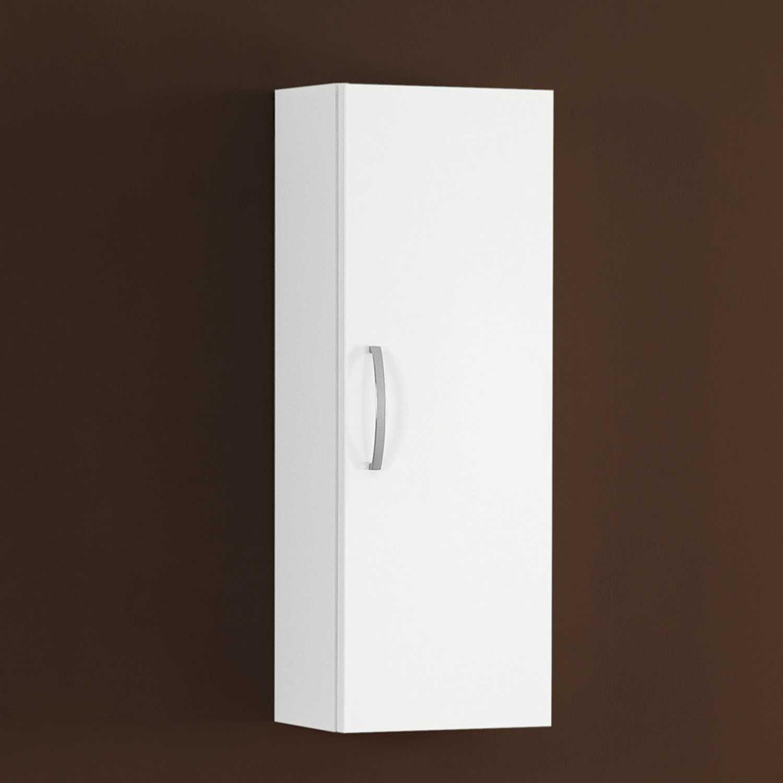 Pensile bagno sx/dx 125,5x71x20 cm laccato lucido bianco