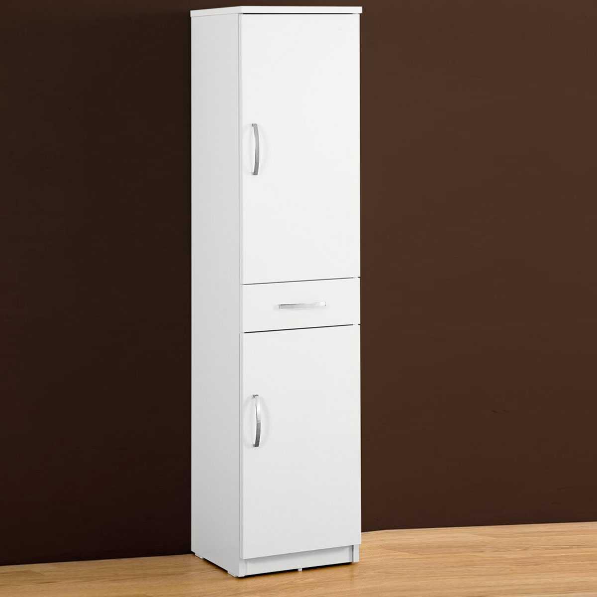Mobile bagno multiuso 35,5x149,7x35 cm laccato lucido bianco