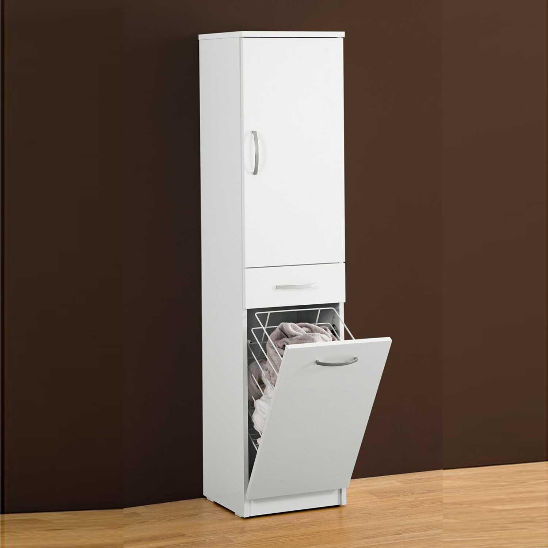 Mobile portabiancheria 35,5x149,7x35 cm laccato lucido bianco