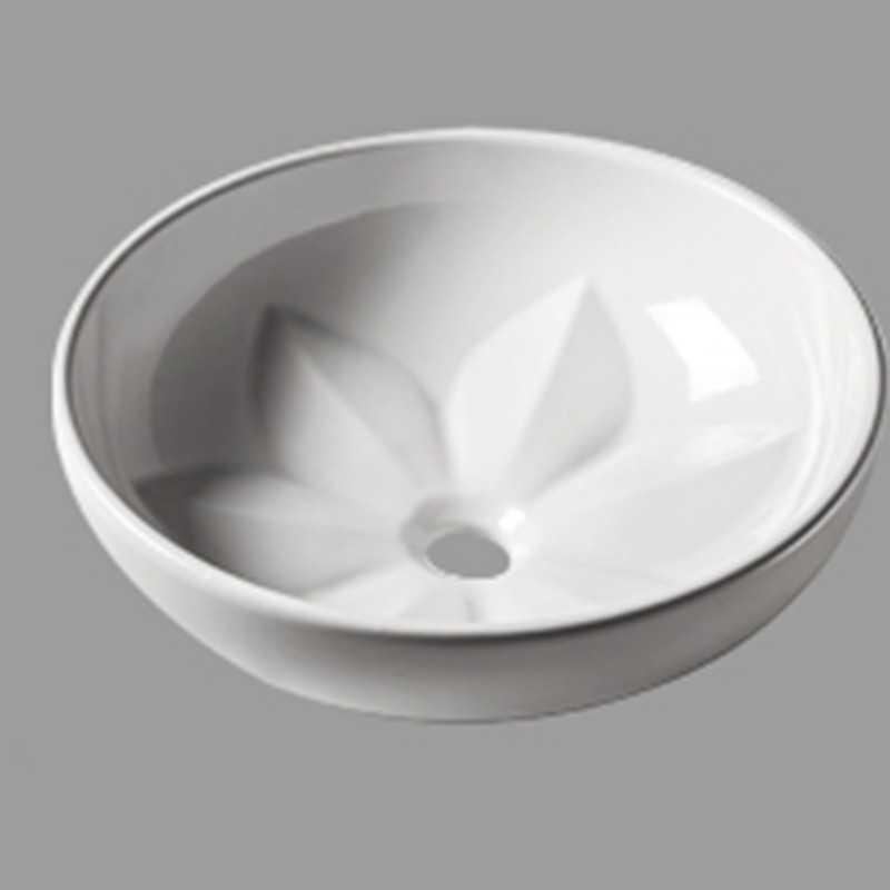 Lavabo da Appoggio Design mod. FLEUR Ceramica Azzurra