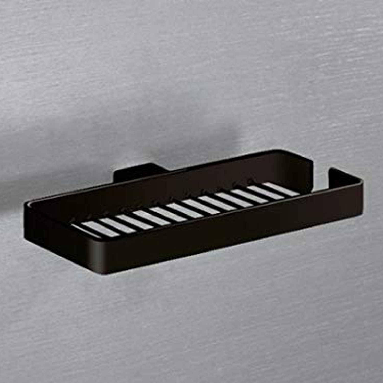 Portasapone doppio in filo Gedy Lounge in alluminio nero 24,6x13,7x2,5 cm