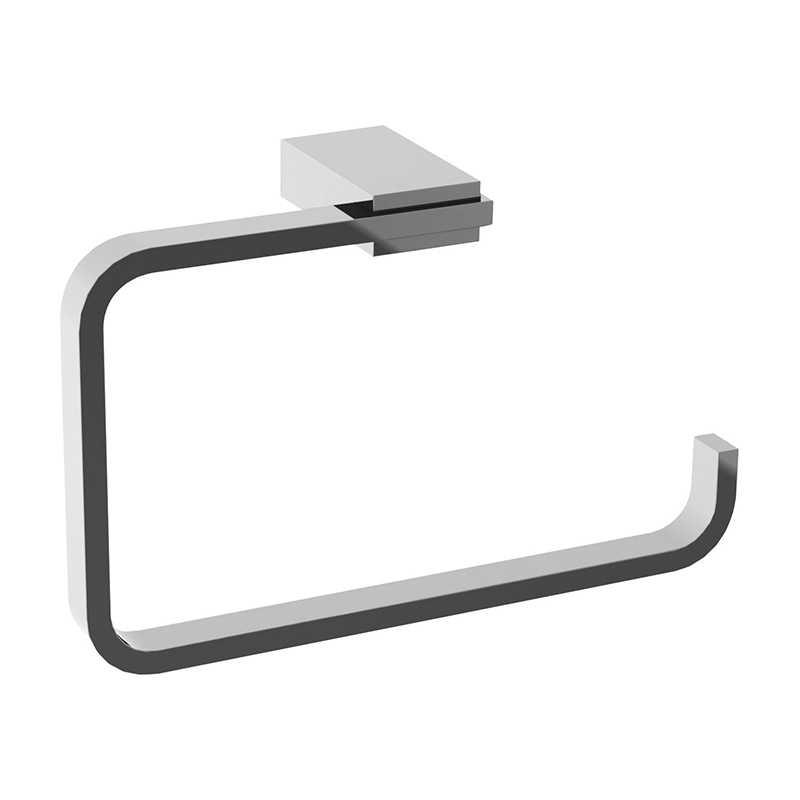 Portasalviette ad anello Gedy Kansas in alluminio cromato 20x6,2x12,7 cm