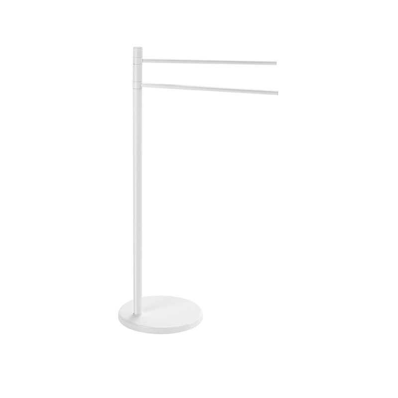 Piantana portasciugamani Gedy Mammolo in alluminio e acciaio inox 24,5x43x89,5 cm  colore bianco