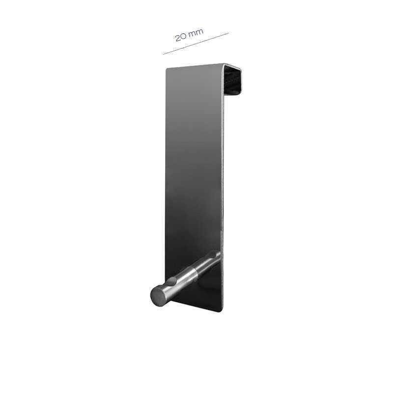 Appendiabiti Gedy sopra porta in acciaio inox con battente 20 cm