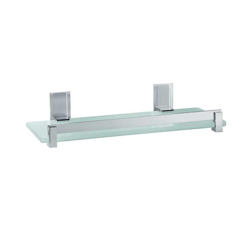 Portasapone e oggetti per doccia Gedy Cloud, alluminio e vetro temperato cm 30x14,6x5,8