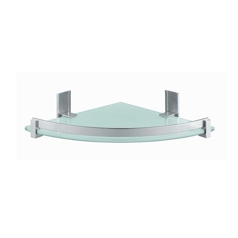 Portasapone e oggetti per doccia Gedy Cloud, alluminio e vetro temperato cm 26x5,8x26