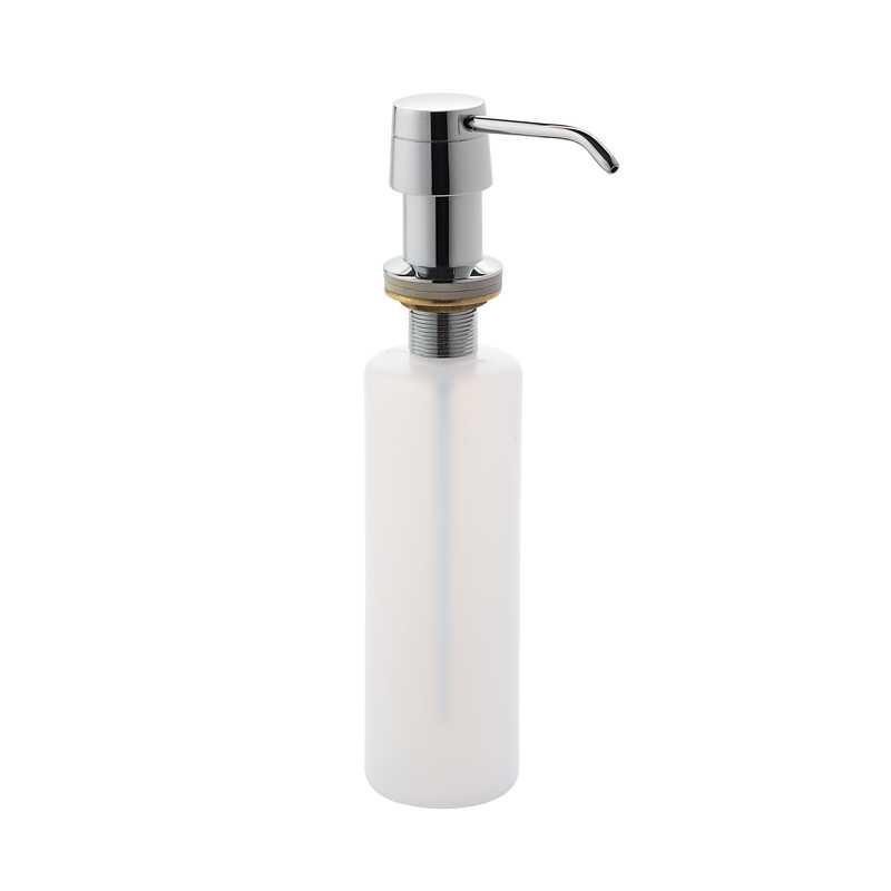 Dispenser sapone da incasso Gedy da 340 ml in ottone e resine per top lavabo