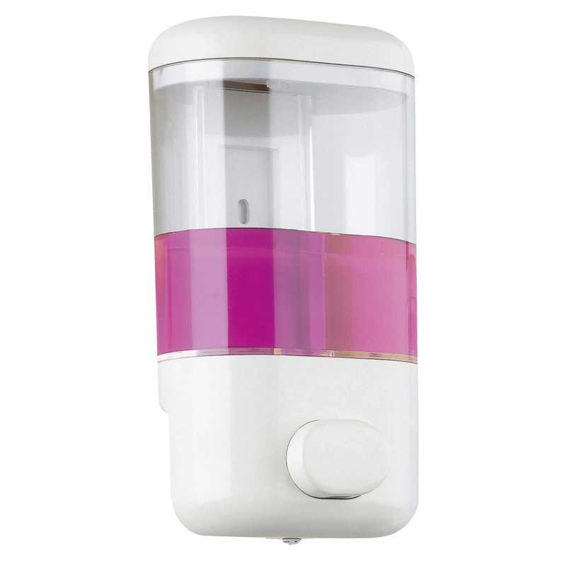 Dispenser bianco per sapone Gedy Push in resine termopastiche da 600 ml