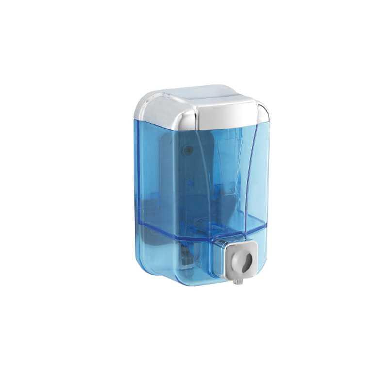 Dispenser cromato lucido per sapone Gedy Cod da 500 ml in resine termopastiche