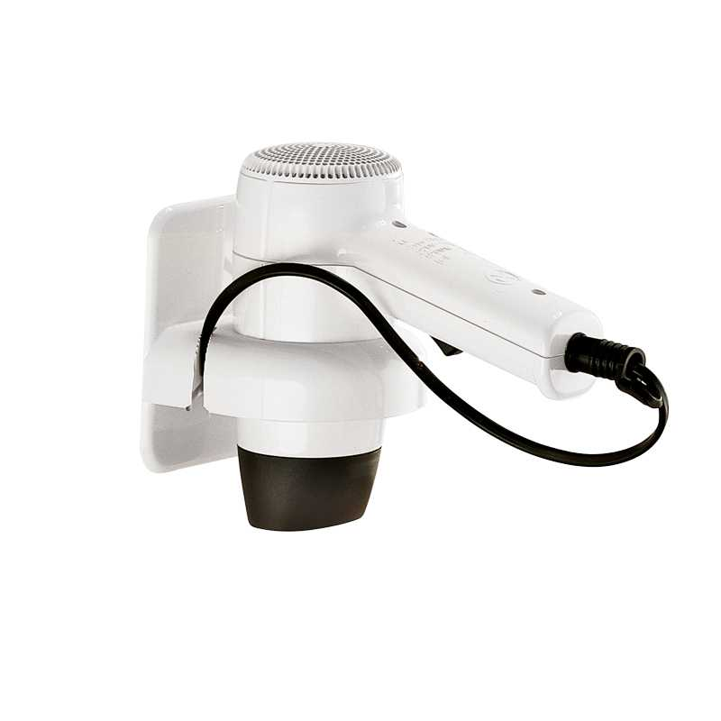 Asciugacapelli bianco 1200 W Gedy Albatros con supporto a parete