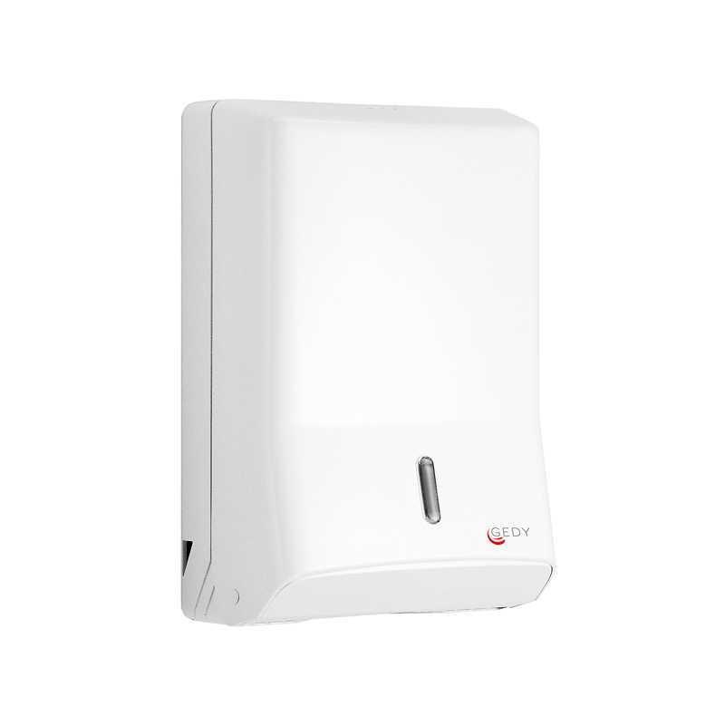 Distributore salviette carta piegate di Gedy in resine termoplastiche, colore bianco