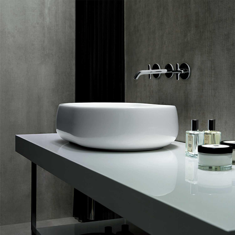 Lavabo da Appoggio modello Nuvola 75 Ceramica Azzurra