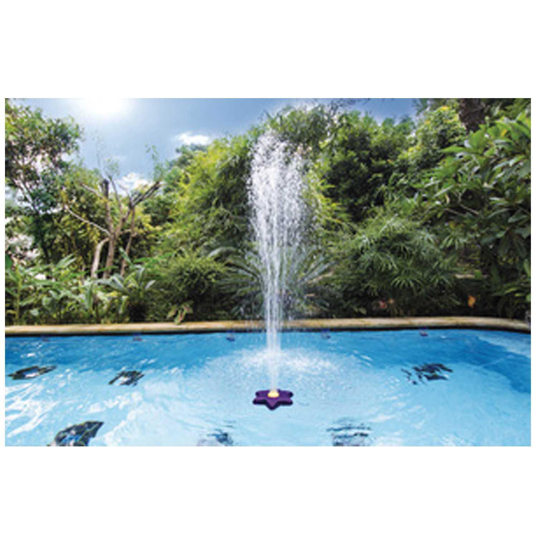 Fontana Fiore per piscina con prolunga bocchetta di mandata