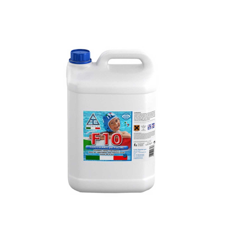 Flocculante liquido F10 per piscine confezione da 5 litri