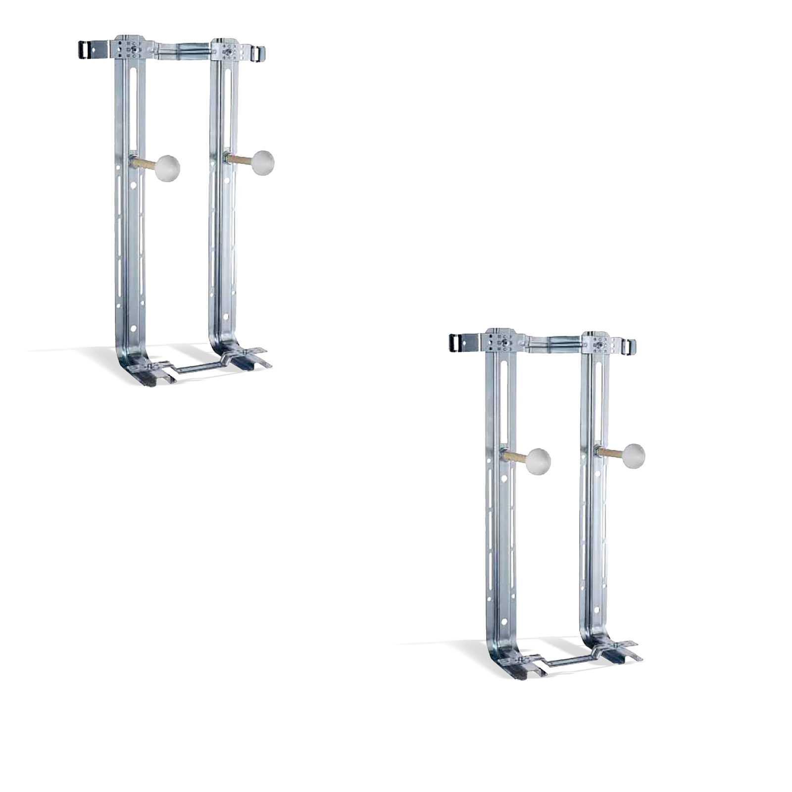 Staffe di fissaggio universali in acciaio inox per WC e Bidet Sospesi