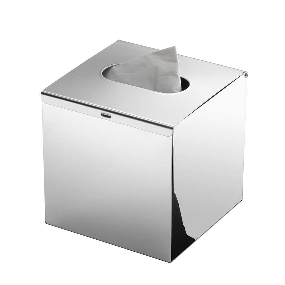 Porta fazzoletti da appoggio Gedy in acciaio inox AISI 304 cromato lucido