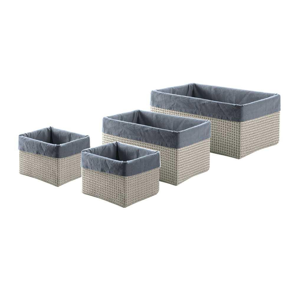 Set Gedy Lavanda con n° 4 scatole grigie misure assortite
