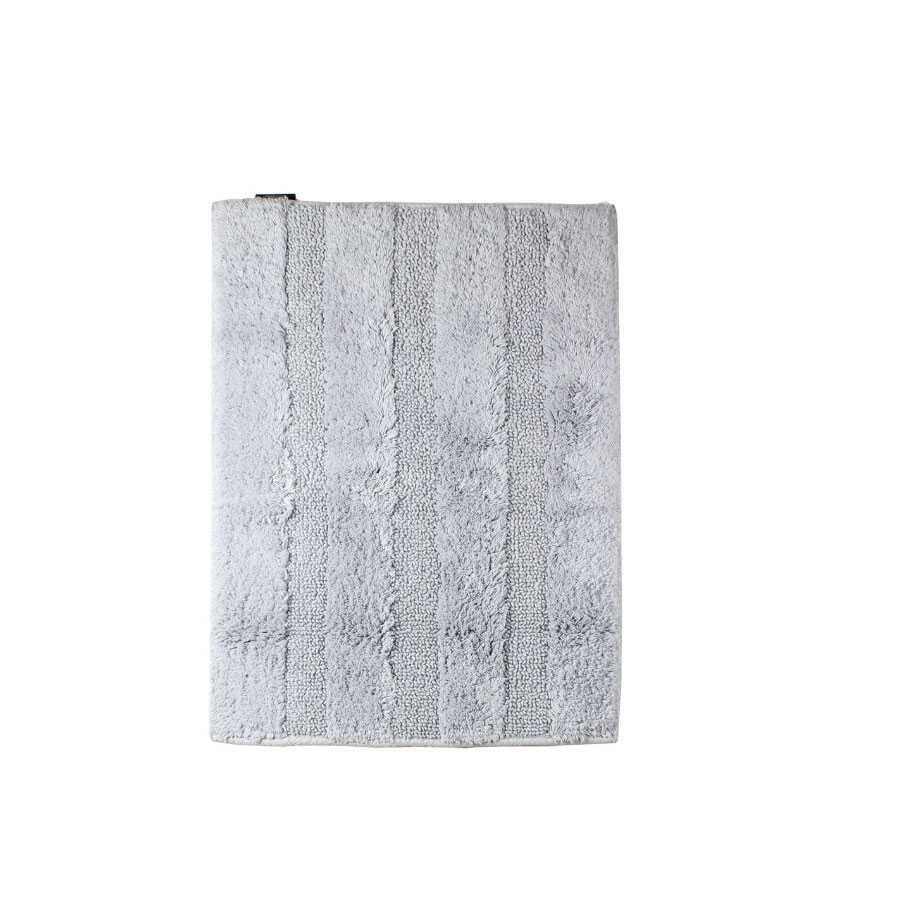 Tappeto bagno 70x120 cm Koh-I-Noor Reverso Plus cotone pettinato grigio chiaro