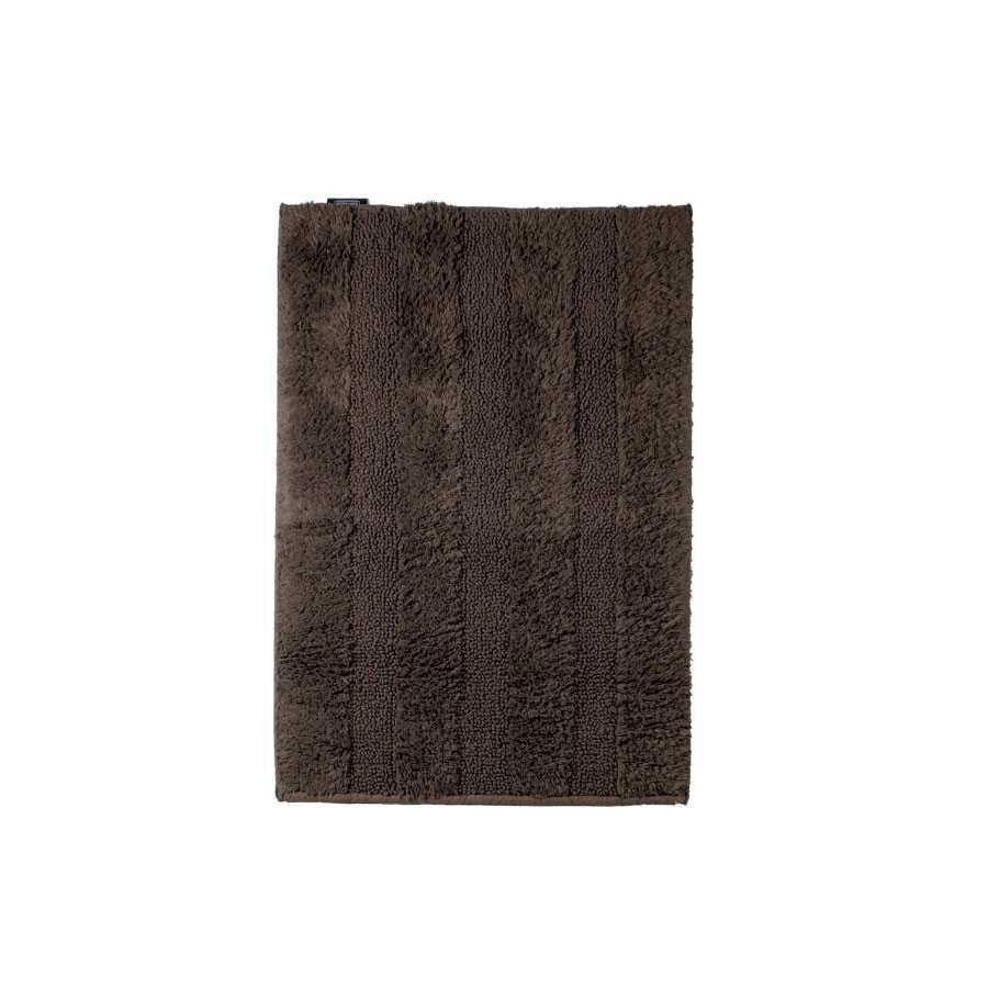 Tappeto bagno 60x90 cm Koh-I-Noor Reverso Plus cotone pettinato marrone